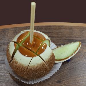 Der Gourmet Apfel wird aufgeschnitten serviert
