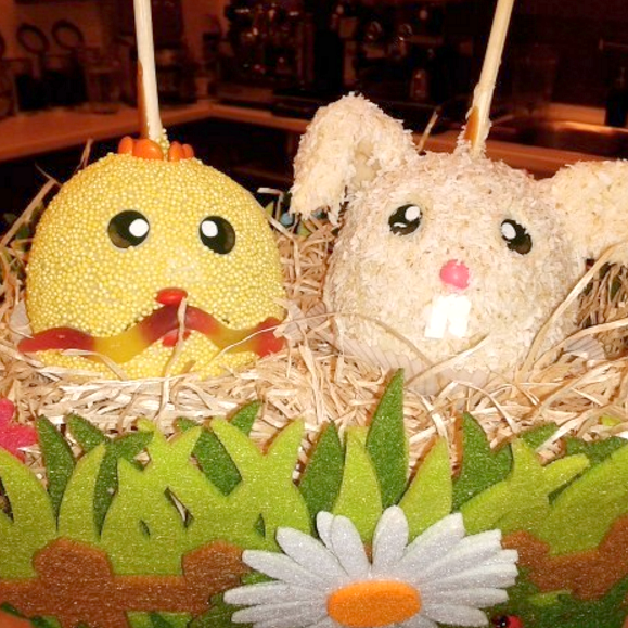 Mottoäpfel Ostern